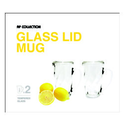 Glasslock Lid Mug 4P set