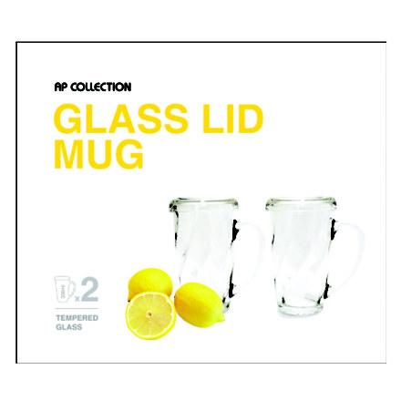 Glasslock Lid Mug 4P set