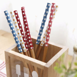 ACACIA Wood Dot Chopsticks 4P