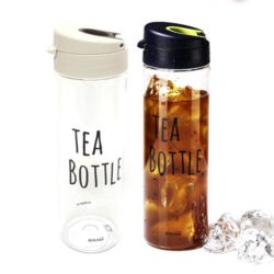 Tea Bottle  W/Strainer- 550ml B/W