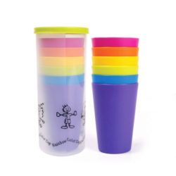 Rainbow Party Cup 6p Set