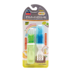 AP Owl All-in-One Spoon Fork Set (Green, Blue)