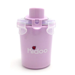 Kidoo Stainless Straw Bottle 250ml(Yellow Green or Purple)