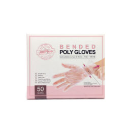 Bended disposable poly gloves(50pcs)