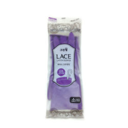 Lace Hanging Rubber Gloves_Violet_Small