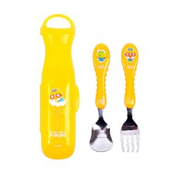 Pororo Easy Grip Spoon Frok with Case