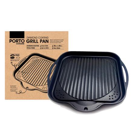 PORTO Non-Stick SQ. Grill Pan 28 cm