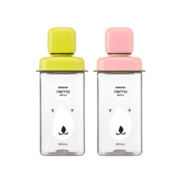 Komax  Nemo Water Bottle 430ml_Green/Pink
